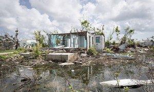 Devastación causada por el Huracán Irma en Antigua y Barbuda en 2017.