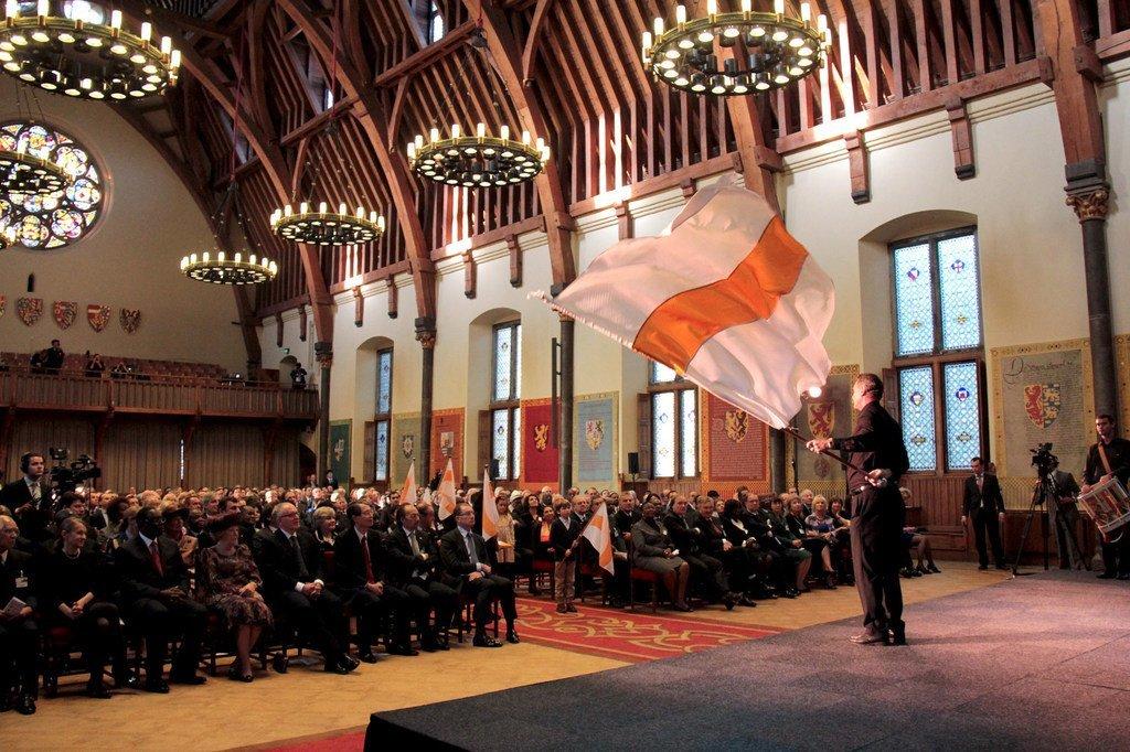 2012年11月,国际刑事法院在荷兰海牙骑士厅庆祝成立十周年。