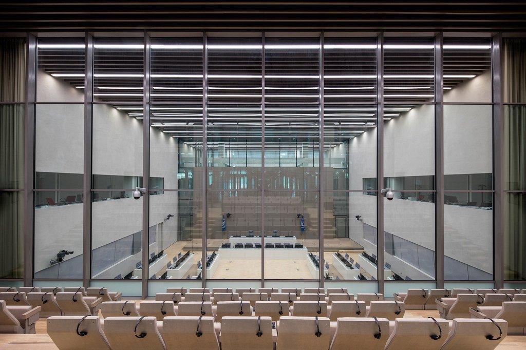 国际刑事法院荷兰海牙总部内景。
