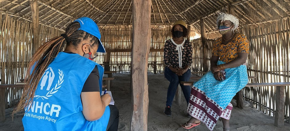 Families displaced by extremist violence in Cabo Delgado in Mozambique have been assisted by the UN refugee agency.