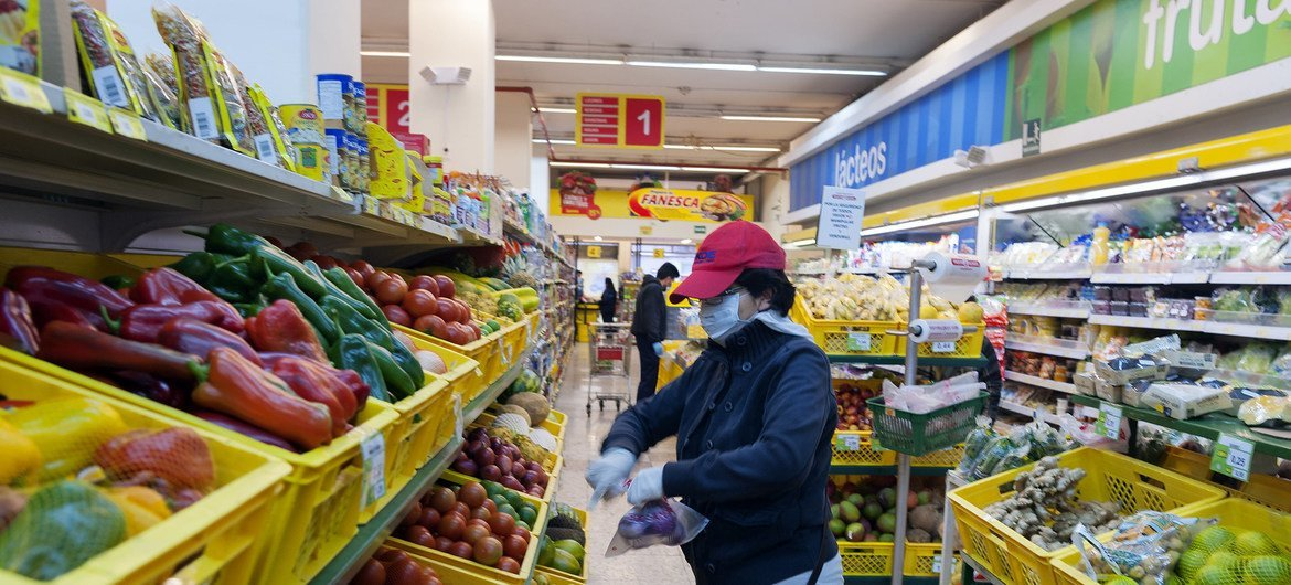 Shopping during the coronavirus pandemic: greater population growth in regions such as Latin America, will require more productive and sustainable agriculture.