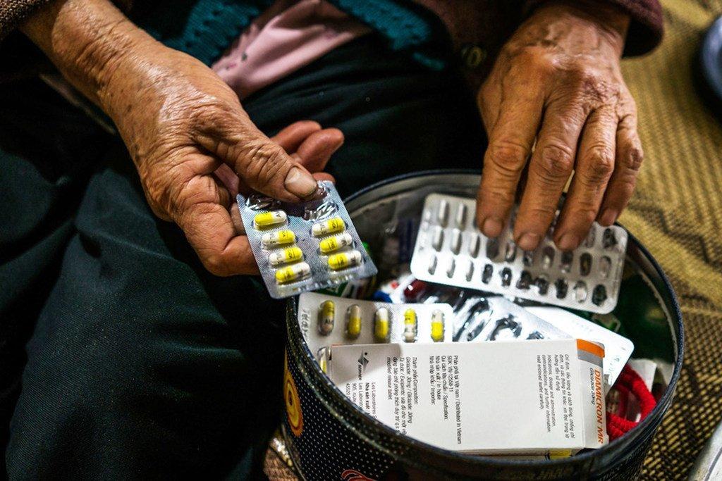 越南北部哈南(Ha Nam)的一名糖尿病患者。