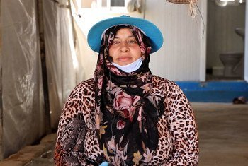 Fatima Hussein Al Ahmad, a Syrian refugee, is now living in Jordan.