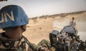 MINUSMA peacekeepers on patrol in northern Mali.