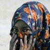 A Somali woman arrives in Yemen.