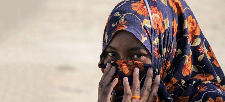 امرأة صومالية ممن وصلوا إلى اليمن.