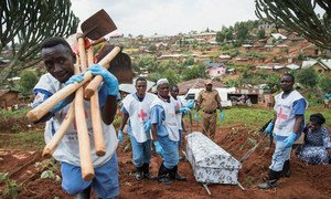 Enterrement de victimes du virus Ebola lors d'une épidémie dans l'est de la République démocratique du Congo (photo d'archives).