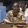 Rosine Sori-Coulibaly, Représentante spéciale pour la Guinée-Bissau, devant le Conseil de sécurité (photo d'archives).