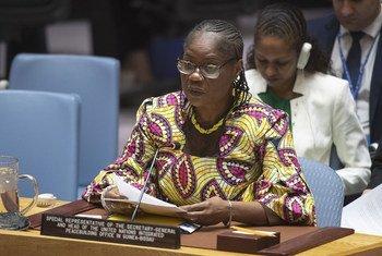 Rosine Sori-Coulibaly, Représentante spéciale pour la Guinée-Bissau et Chef du Bureau intégré des Nations Unies pour la consolidation de la paix en Guinée-Bissau, informe le Conseil de sécurité sur la situation en Guinée-Bissau.