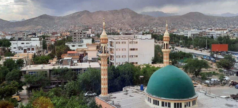 अफ़ग़ानिस्तान की राजधानी काबुल में एक मस्जिद.
