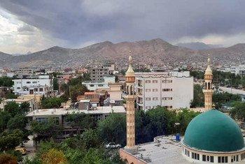 A mosque in Khair Khana, Kabul , Afghanistan.