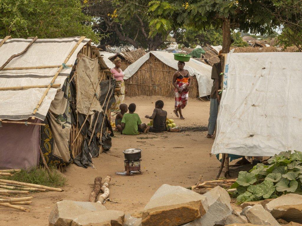 Watoto katika kambi ya wakimbizi wa ndani Cabo Delgado nchini Msumbiji.