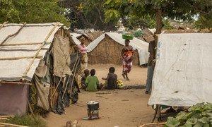 Children at an IDP camp in Cabo Delgado, Mozambique.