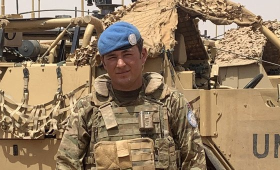 Trooper Jake Drake, is a driver serving in the UK contingent of MINUSMA.