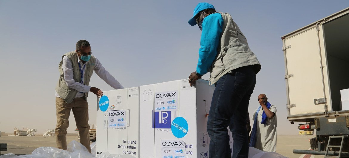 69,600 doses of COVID-19 vaccine were delivered to Mauritania in early April as part of the COVAX initiative.