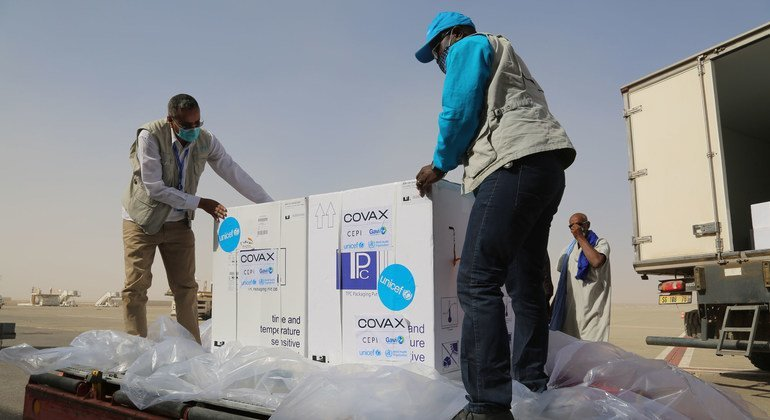 تم تسليم 69,600 جرعة من لقاحات كوفيد-19 إلى موريتانيا في بداية شهر نيسان/أبريل كجزء من مبادرة كوفاكس.