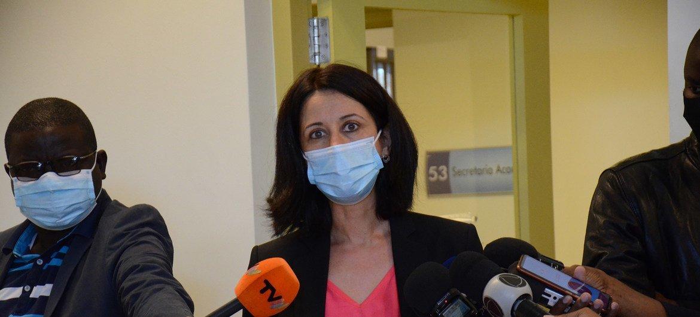 Laila Sheik Ruttmman, chefe da Cooperação da Embaixada da Suiça