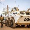 Des Casques bleus de la MINUSMA en patrouille dans l'est du Mali.