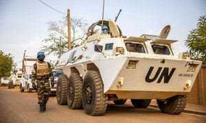 UN peacekeepers on patrol in the Eastern Sector of Mali.