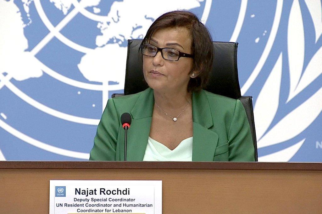 نجاة رشدي، نائبة المنسقة الخاصة، والمنسقة المقيمة للأمم المتحدة في لبنان.