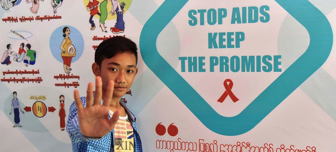 UNICEF is helping rise  awarness of HIV and AIDS successful  Myanmar.