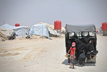 Al Hol camp is home to more than 70,000 people of which more than 90 per cent are women and children. Iraqis and Syrians constitute more than 80% of the population. (16 June 2019)