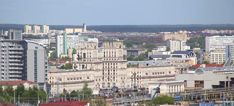 Вид на Минск, столицу Беларуси