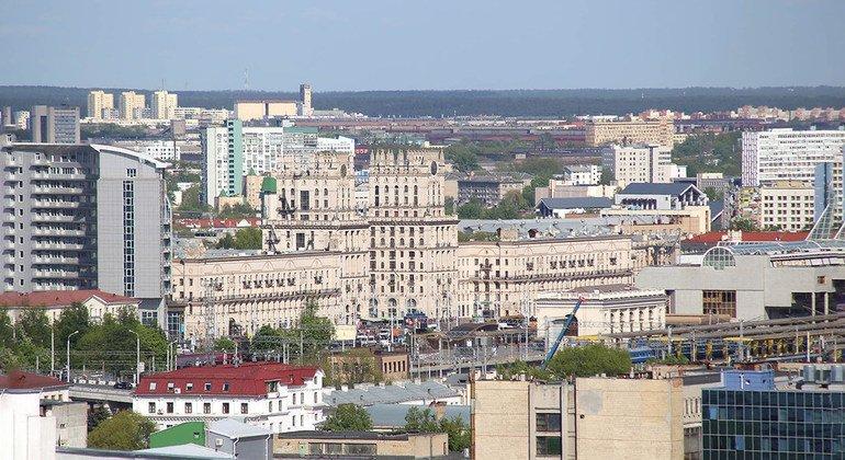 مينسك، عاصمة بيلاروس.