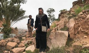 سونيا المسعد، مدير برامج ميدانية من سوريا، تعمل مع مكتب الأمم المتحدة لتنسيق الشؤون الإنسانية في اليمن.