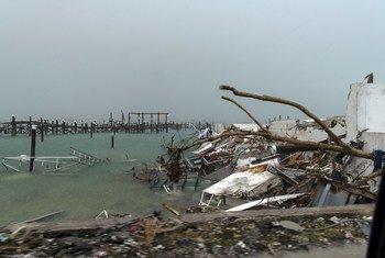Гавань Марш на Багамах после нашествия разрушительного урагана «Дориан».