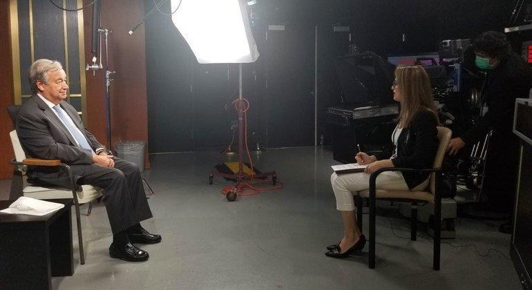 UN News' May Yaacoub interviews Un Secretary General António Guterres.