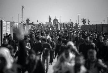 People walking in Mehran, Ilam Province, Iran.