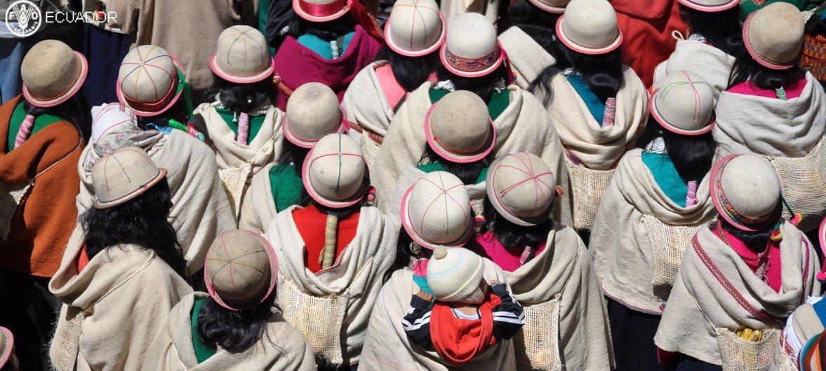 Comunidad indígena en Ecuador.