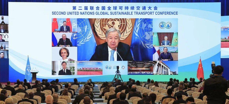 Генсек ООН Антониу Гутерриш обратился к участникам Конференции по устойчивому транспорту.