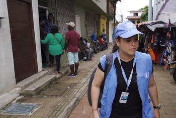Jeniffer Moreno – Verification official & photographer, UNVMC, Colombia