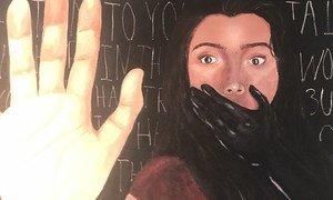 Экспонат прошедшей в ООН выставки о противодействии насилию над женщинами