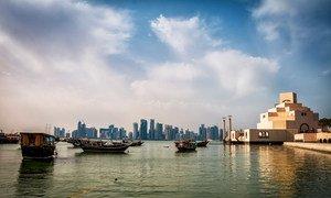الدوحة ، عاصمة قطر.