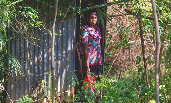 In Bangladesh, latrines provide women and girls privacy when they are menstruating.