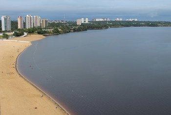 Cidade de Manaus, no Amazonas, Brasil.