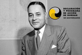 Ralph Bunche (EE.UU., 1904-1971) funcionario de la ONU y Premio Nobel de la Paz.