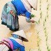 Des agricultrices piquant du riz au Vietnam