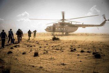 माली के मोपती क्षेत्र में संयुक्त राष्ट् का शांतिरक्षा मिशन.