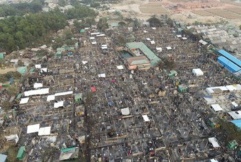 बांग्लादेश के नयापाड़ा शरणार्थी शिविर में गुरूवार 14 जनवरी 2021 को एक विनाशकारी आग लगने से भारी तबाही हुई. इस आग के कारण, लगभग 3500 रोहिंज्या शरणार्थियों के घर तबाह हो गए.