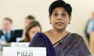 Nazhat Shameem Khan, Représentante permanente de la République des Fidji auprès de l'Office des Nations Unies à Genève, a été élue présidente du Conseil des droits de l'homme pour 2021.