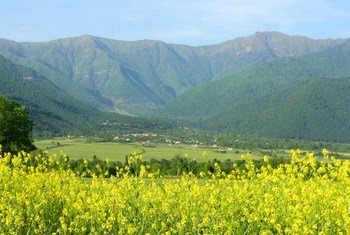 Азербайджан обязался восстановить 50 тыс. гектаров уничтоженных засухой земель. Село Лекит в Гахе, Азербайджан