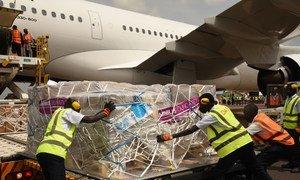 Unicef entregando equipamentos mêdicos essênciais no Ugando no início de fevereiro