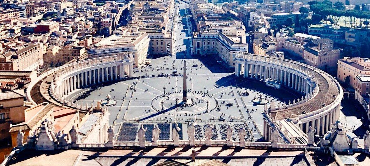Vista panorámica de la ciudad del Vaticano