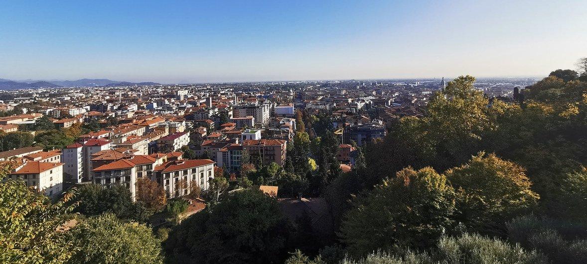 La ville de Bergame, dans le nord de l'Italie, pendant la pandémie de Covid-19