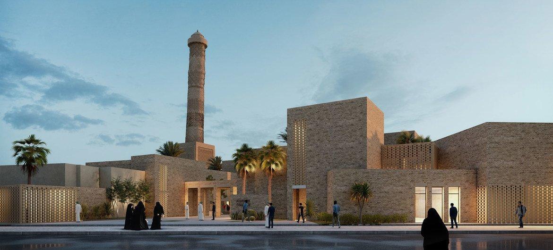 The architectural design to rebuild the conflict-damaged  Al-Nouri Mosque complex in Mosul, Iraq has been announced by UNESCO.