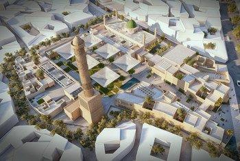 فوز مهندسين مصريين في مسابقة دولية لإعادة إعمار مجمّع جامع النوري في الموصل بالعراق.